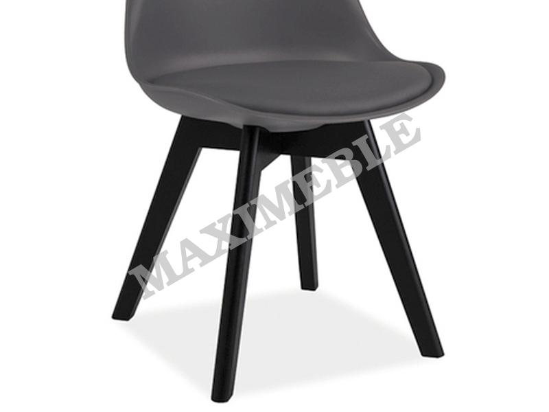 Krzesło Metalowe Kris 2 Szare Drewno Czarne Signal Maximeblepl