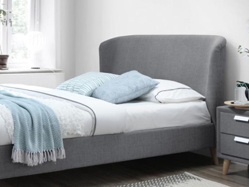 łóżko Tapicerowane Alexis 160x200 Szare Signal