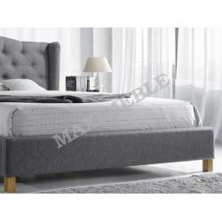 łóżko Tapicerowane Aspen 160x200 Szare Signal Wysyłka 24h