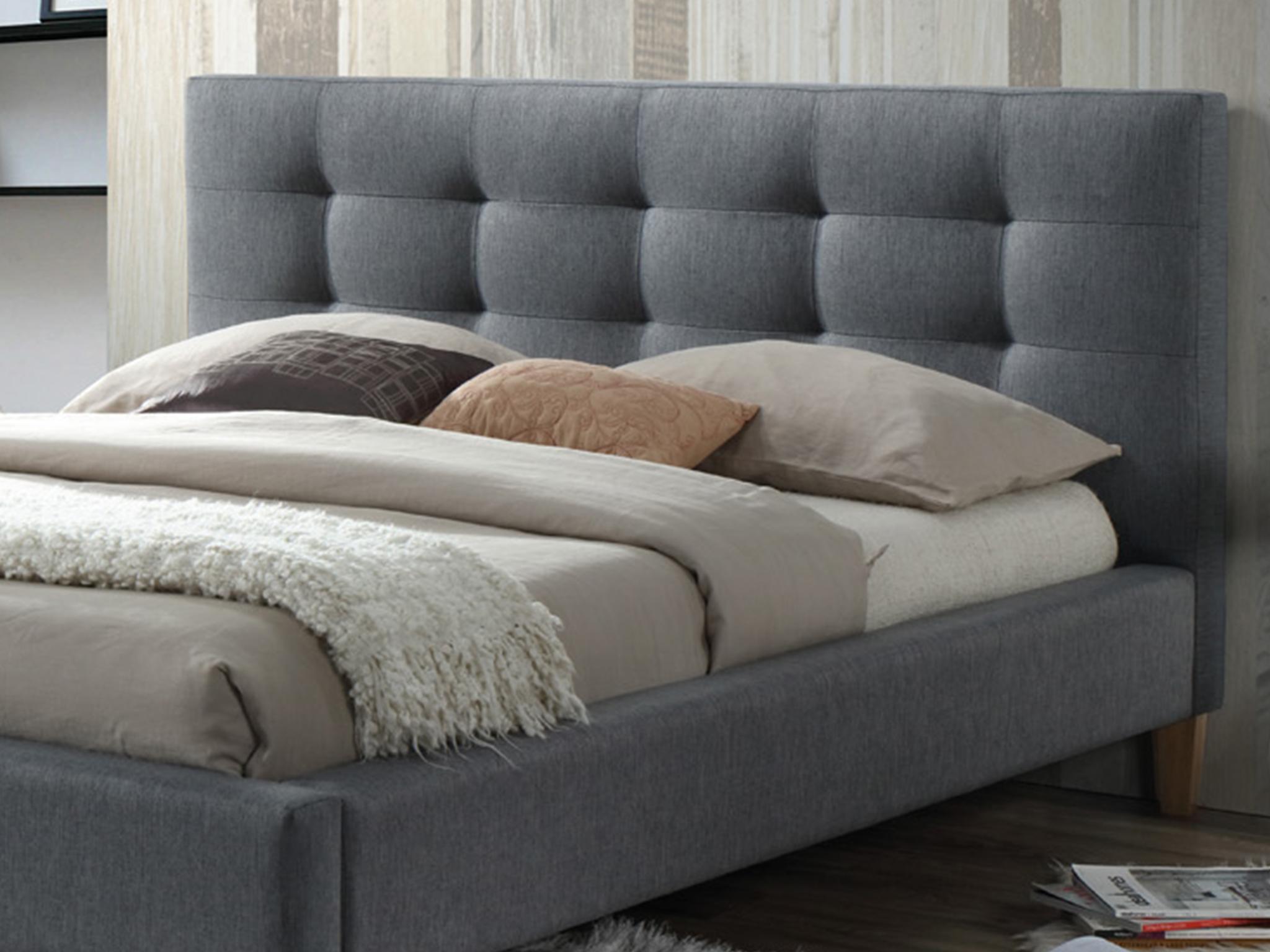 łóżko Tapicerowane Texas 160x200 Szare Signal