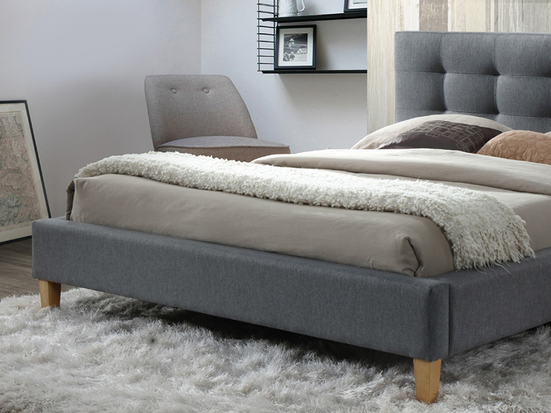 łóżko Tapicerowane Texas 180x200 Szare Signal