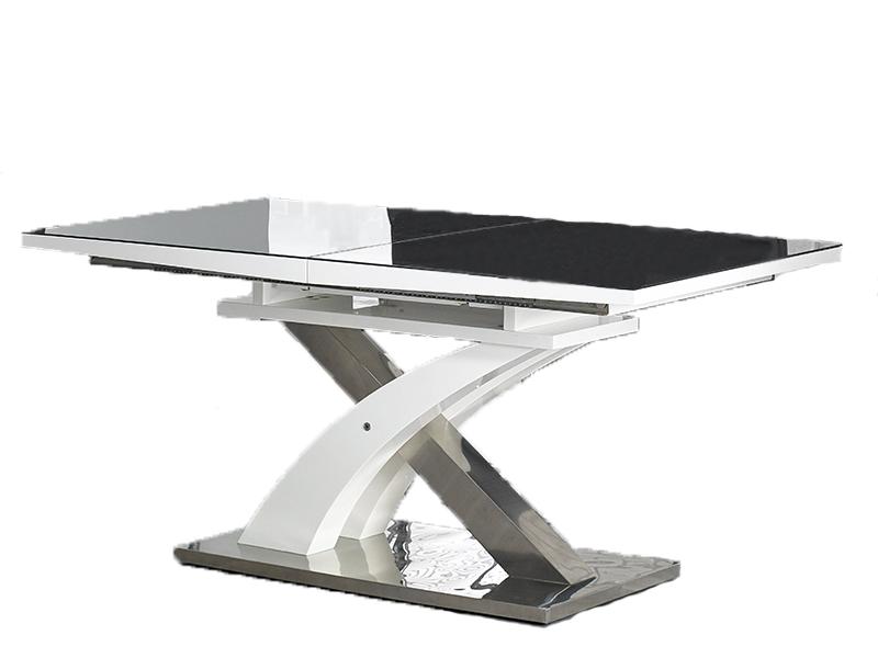 Zupełnie nowe Stół rozkładany SANDOR 2 biały - czarny 160-220x90 HALMAR GD75
